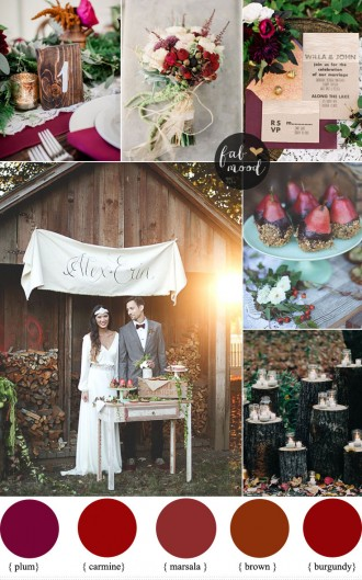 Autumn Rustic Woodland Wedding Inspiration { Burgundy + Marsala + Plum } : http://www.fabmood.com/autumn-rustic-woodland-wedding-inspiration #autumnwedding #woodlandwedding