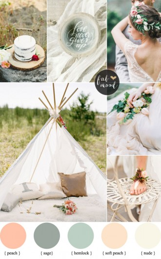 Bohemian Beach Wedding,Boho Wedding Colour Palette | fabmood.com