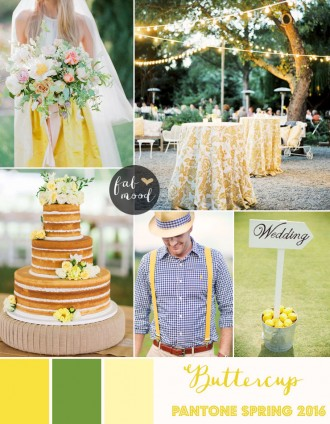 Buttercup Wedding Theme { Pantone Spring 2016 } https://www.fabmood.com/buttercup-wedding-theme-pantone #yellow #wedding