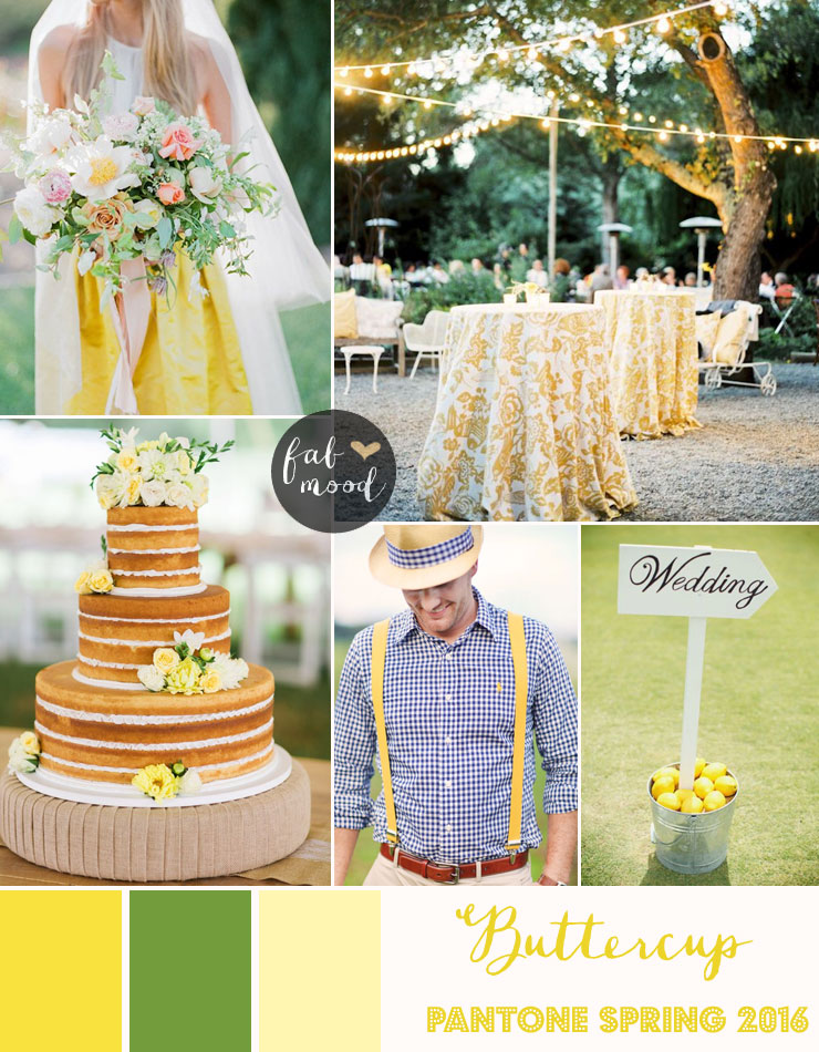 0d1153dbf09 Buttercup Wedding Theme   Pantone Spring 2016