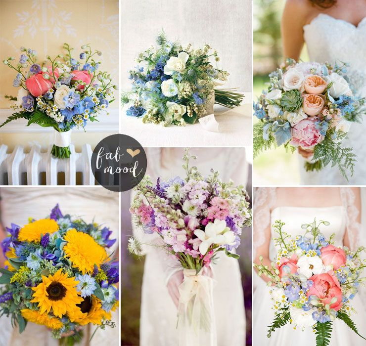 Delphinium bouquet - Fall Wedding Flower Colors Ideas | fabmood.com