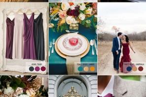 18 Fall wedding palette | Autumn wedding colour combinations | fabmood.com