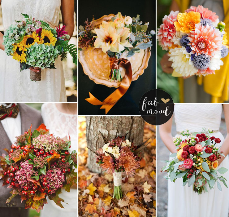 Fall Wedding Flower Colors Ideas | fabmood.com