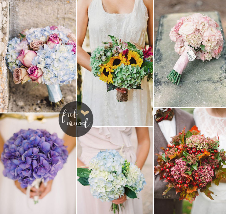 Hydrangea bouquet - Fall Wedding Flower Colors Ideas | fabmood.com #fallweddingflowers #hydrangeawedding