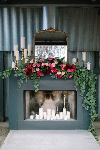 Greenery and Floral Garland Wedding Decoration