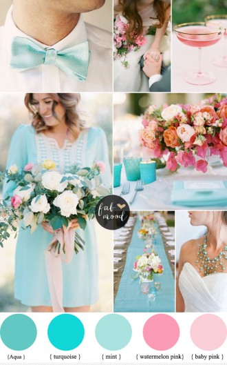 Pink and Turquoise Wedding Ideas | https://www.fabmood.com/pink-and-turquoise-wedding-ideas #weddingpalette #turquoisewedding #weddingideas
