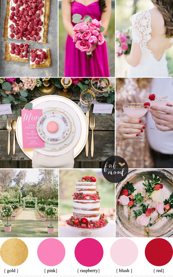Have a garden theme wedding - Raspberry And Gold Wedding Colour for Garden Theme Dream Wedding | https://www.fabmood.com/raspberry-and-gold-wedding-colour #gardenwedding #gardentheme #weddingtheme