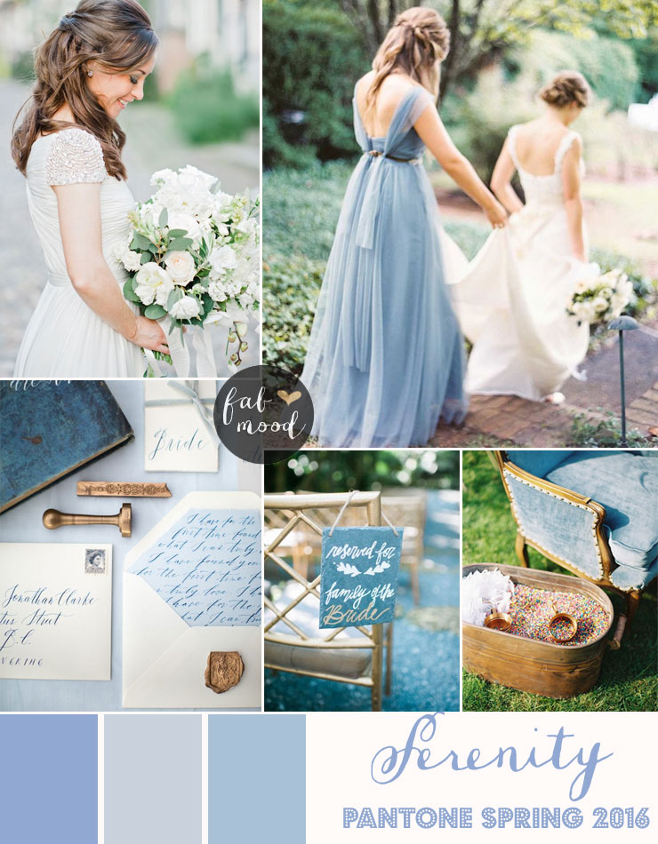 Serenity blue wedding theme pantone spring 2016 for Best wedding colour themes