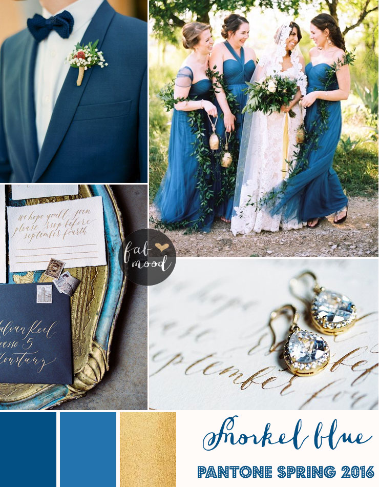 Snorkel blue wedding theme { Pantone Spring 2016 } : https://www.fabmood.com/snorkel-blue-wedding-theme/ #springwedding #bluewedding
