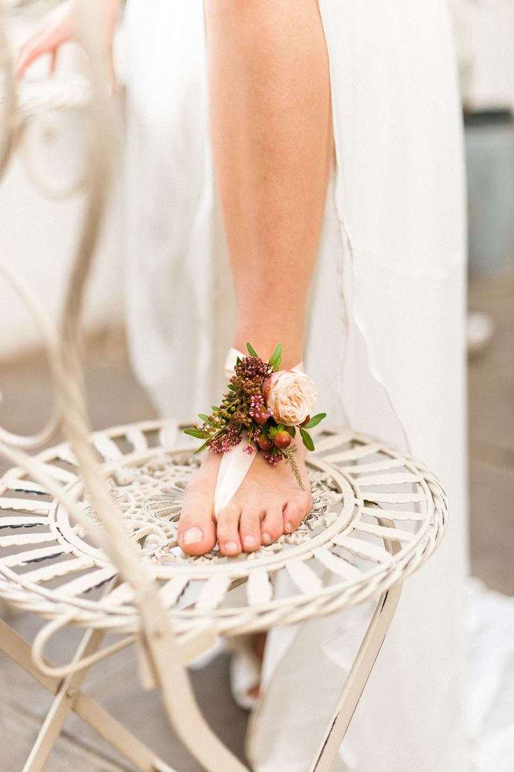 Floral wedding sandal - Bohemian Beach Wedding | fabmood.com