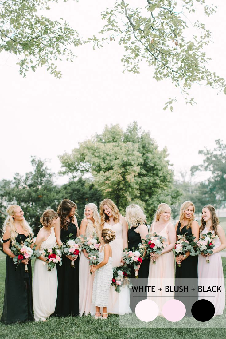 Mix and Match Bridesmaid Dresses by Colours | Photography : jennyhaas.com/ |http://www.fabmood.com/mix-and-match-bridesmaid-dresses-by-colours #bridesmaids
