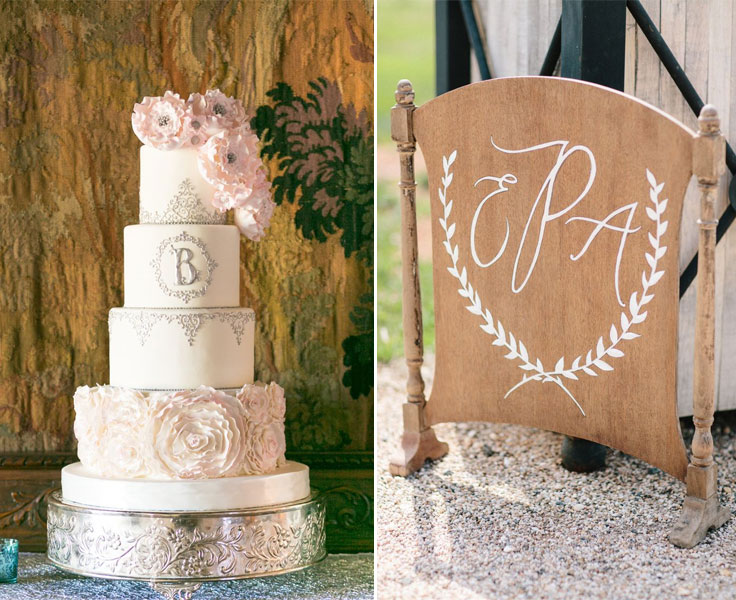 A monogram theme wedding - 15 Ways to Use Monograms : http://www.fabmood.com/monogram-theme-wedding