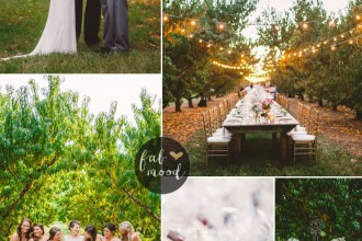 Fall Wedding Ideas For A Rustic Wedding in shades of peach and baby's breath | fabmood.com