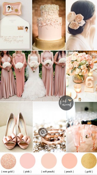 Blush rose gold and peach wedding Colours { sophisticated and beautiful, elegant colours }