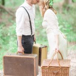 Bride and groom Woodland Bohemian Elopement Inspiration | fabmood.com