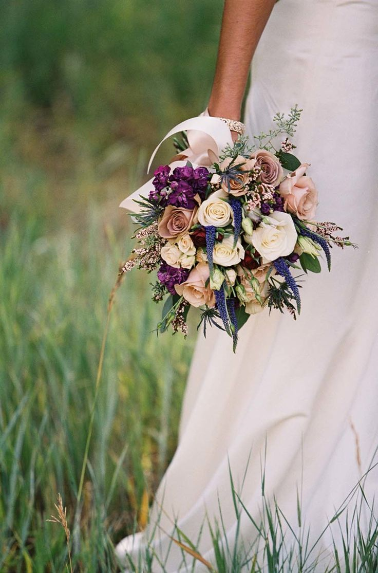 Fall wedding bouquet roses wedding bouquets photography orchiddynasty gorgeous blooms in blush eggplant blues izmirmasajfo