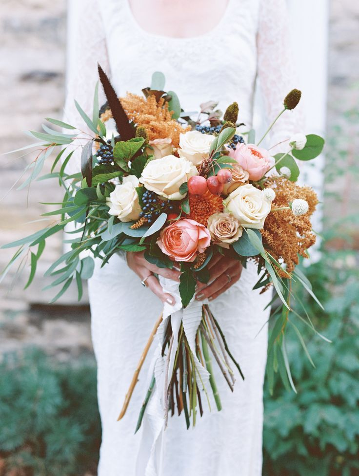 Photography : benincosaweddings.com | rich colors and textures in the flowers - Fall Wedding Bouquet { Roses Wedding Bouquets } fabmood.com #fallbouquet