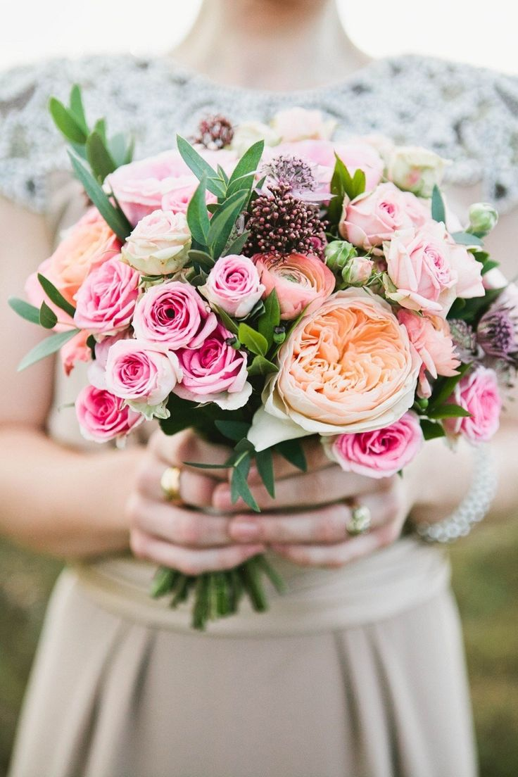 Photographed by brittspring.com | shades of pink and purple boquet - Fall Wedding Bouquet { Roses Wedding Bouquets } fabmood.com #fallbouquet