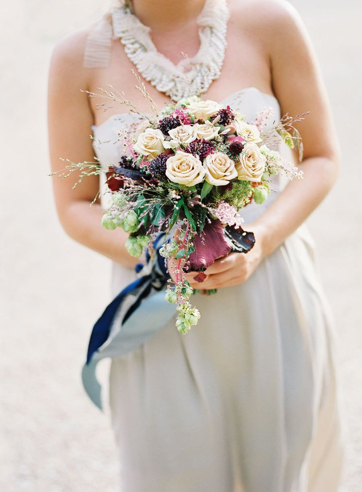 Photography : stevesteinhardt.com/ | Ivory and plum bouquet - Fall Wedding Bouquet { Roses Wedding Bouquets } fabmood.com #fallbouquet