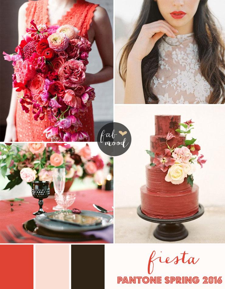 Fiesta blush and black Wedding Theme { Pantone Spring 2016 }