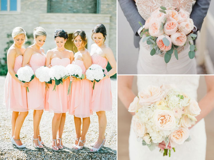 21 Blush flower wedding bouquets | Wedding Bouquet Inspiration