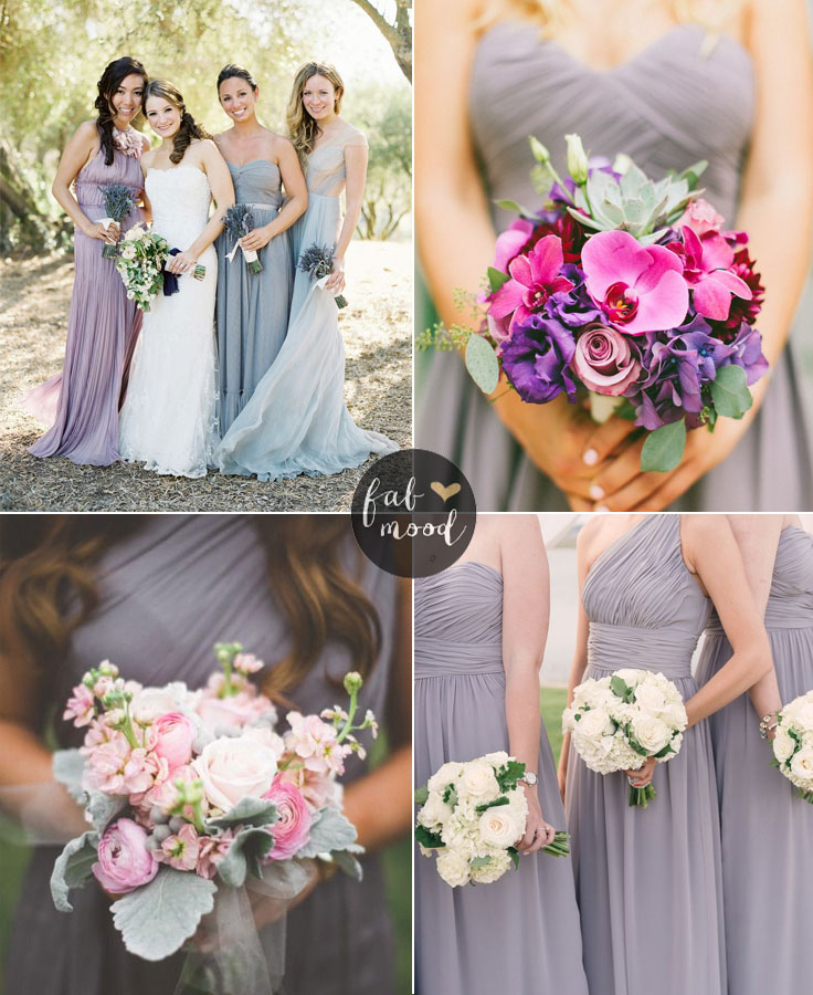 Lilac Gray Wedding Theme Pantone Spring 2016