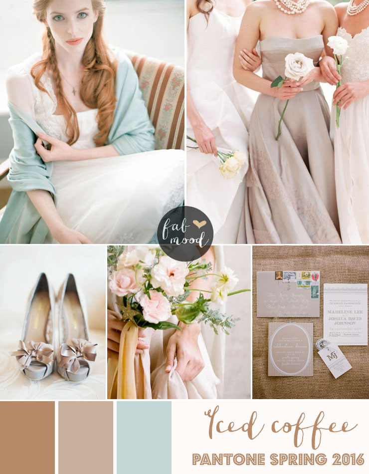soft brown wedding theme,Iced Coffee Wedding Theme { Pantone Spring 2016 }