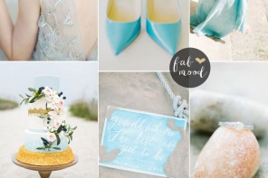Limpet Shell shades of turquoise Wedding Theme { Pantone Spring 2016 } #turquoise #beachwedding