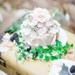 wedding cake - Beautiful Bohemian Elopement Inspiration