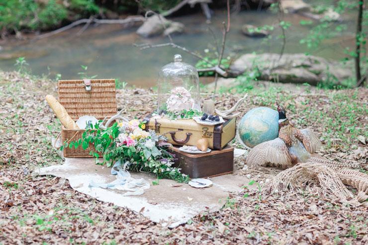 Rustic reception setting - Beautiful Bohemian Elopement Inspiration | Photography : leanicole.com | https://www.fabmood.com/saja-wedding-dress-bohemian-elopement-inspiration: