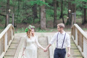 Woodland Bohemian Elopement Inspiration | fabmood.com