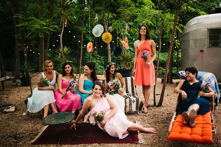 Colorful bridesmaids dresses | Photography : rebeccacaridad-manzanita.com | | Read more about this #wedding on fabmood.com