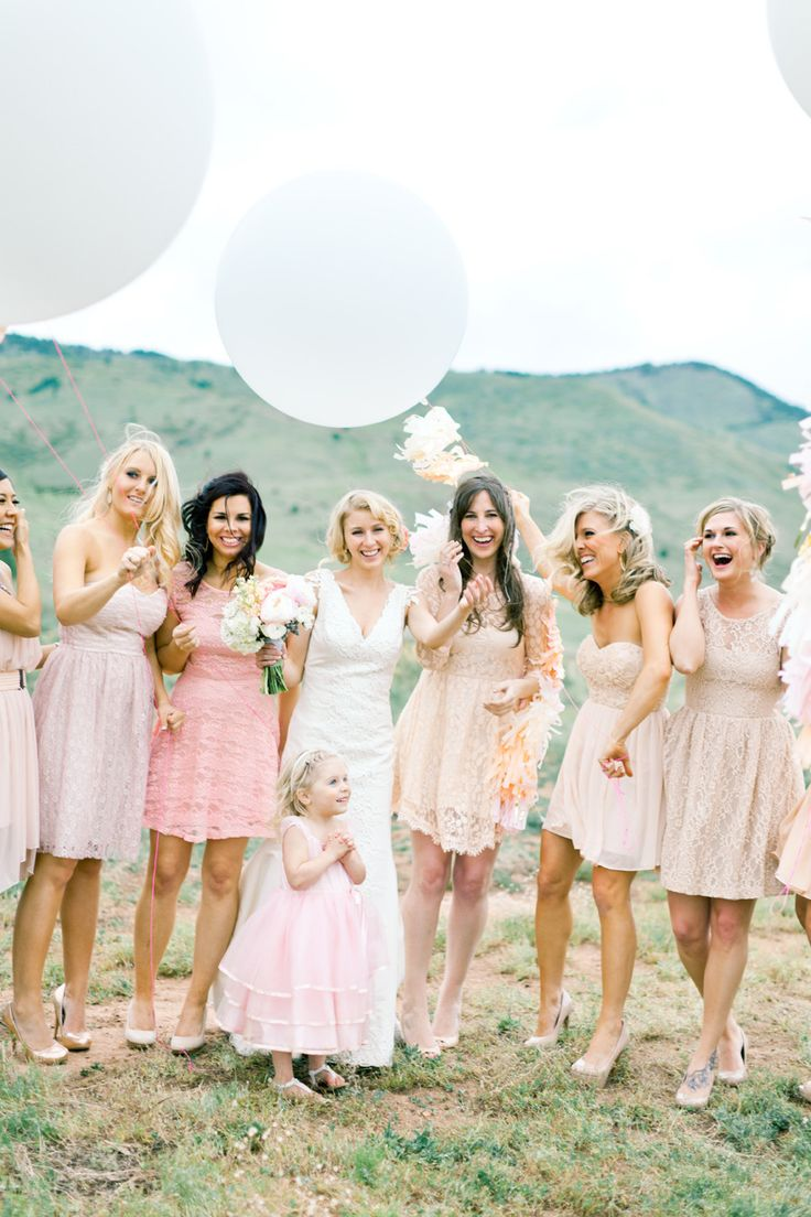 Bridesmaids dresses 5 different ideas for a stylish wed blush bridesmaids mix and match bridesmaids dresses brumley and wells photography best bridesmaid ombrellifo Image collections