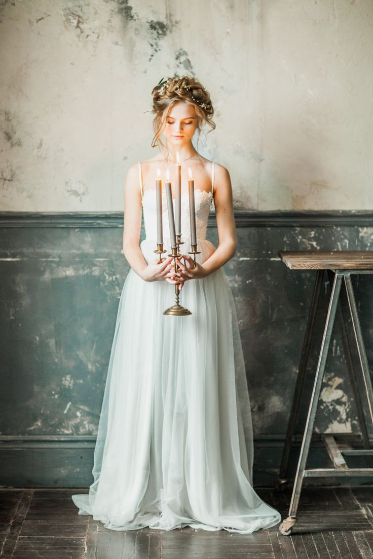 "#Bridal portraits Inspiration ""Isidora"" Light grey Wedding gown by Milamira Bridal 