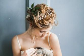 "#Bridal portraits Inspiration ""Isidora"" Light grey Wedding gown by Milamira Bridal | fabmood.com | photography : antonovakseniya.com/ #weddingdress"