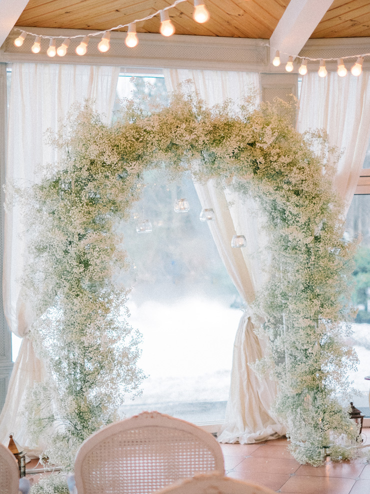 Frosty Blue Winter Wedding Filled To The Brim