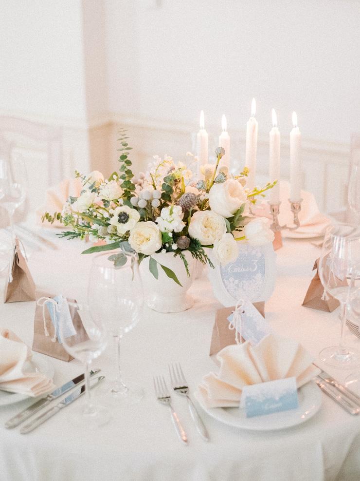 Winter Wedding Centerpieces Light Blue Winter Wedding Read More
