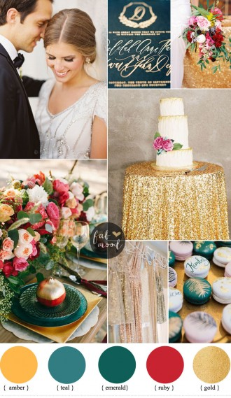Luxurious Jewel Toned Wedding For Fall and Winter Wedding fabmood.com #jeweltonedwedding