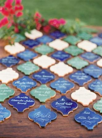 Mexican tiles - Best Escort Card Ideas for Weddings | fabmood.com