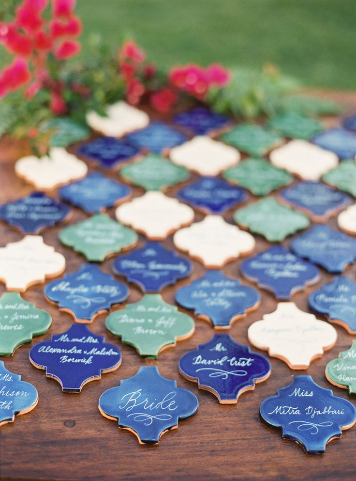 Escort Card Ideas for Weddings | Mexican tiles - Best Escort Card Ideas for Weddings | fabmood.com