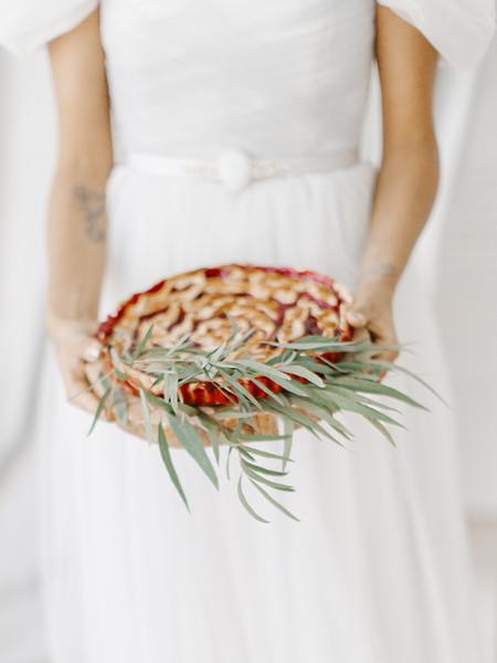 Pie - Wedding dessert ideas | Romantic Light Blue Wedding Dress For A Whimsical Bridal Portraits #bridalportraits #blueweddingdress