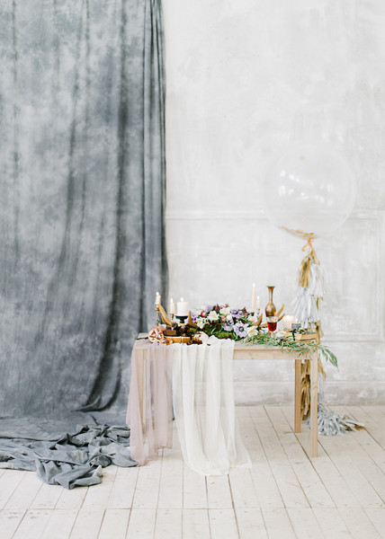 Feminine and romantic Bridal Inspiration { bluish grey wedding dress } fabmood.com