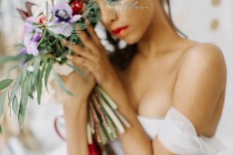 Romantic And Feminine Bridal Inspiration { bluish grey wedding dress } fabmood.com #weddinginspiration
