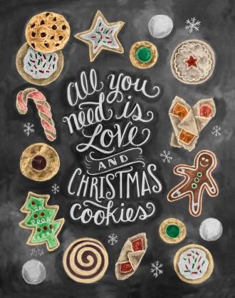 Christmas Dessert Buffet Ideas for Christmas and Winter Wedding | fabmood.com