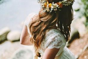 Bohemian bridal hairstyles - bohemian style wedding | fabmood.com #bohemian