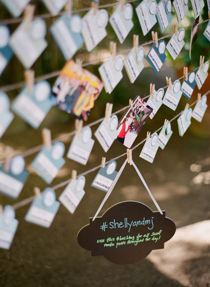 clothesline escort cards | fabmood.com