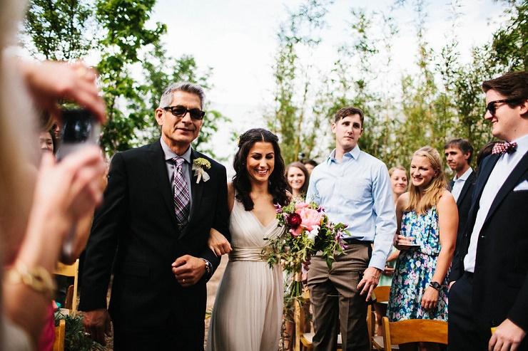 Here comes the bride - Photography rebeccacaridad-manzanita.com A Saja Wedding Dress Read more about this #wedding on fabmood.com #rusticwedding #weddingceremony
