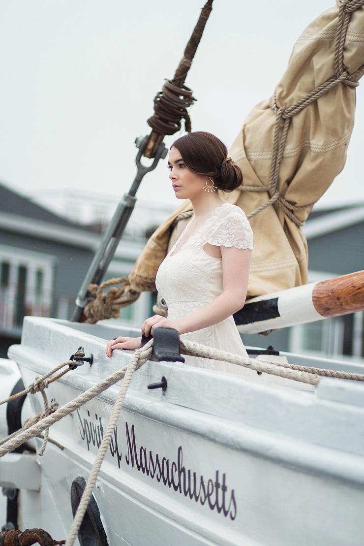 Saja Wedding Dress - Nautical Wedding Inspiration shoot | justinabilodeauphotography.com ,nautical wedding inspiration, #weddinginspiration on fabmood.com