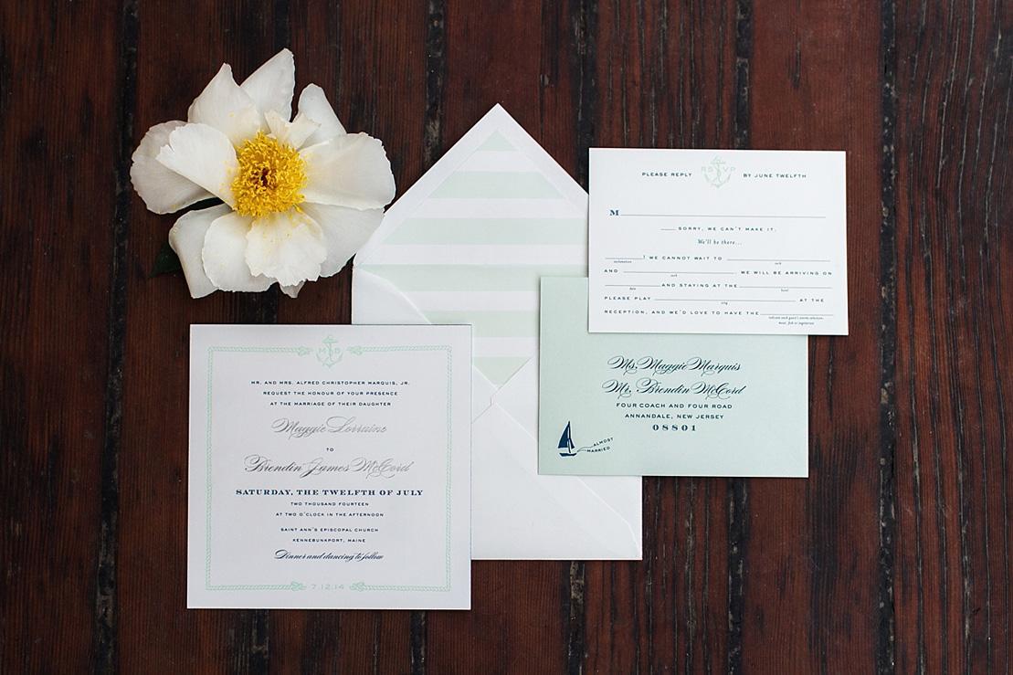 Wedding invitation - Nautical Wedding theme| Photography: justinabilodeauphotography.com | #weddinginspiration on fabmood.com , Nautical Wedding Inspiration
