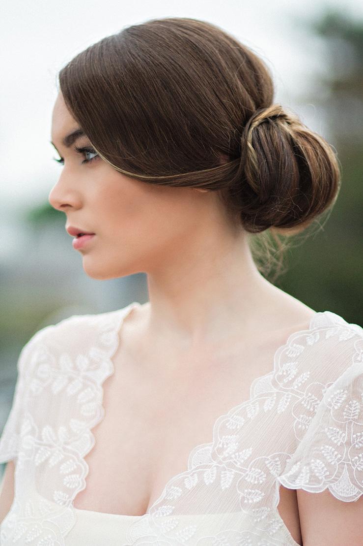 Bridal hairstyle - Nautical Wedding Inspiration shoot | Photography : justinabilodeauphotography.com | #weddinginspiration on fabmood.com